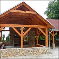 Budowa altany – ekomuzeum nasze wspólne dzieło w Kamieniu Śląskim